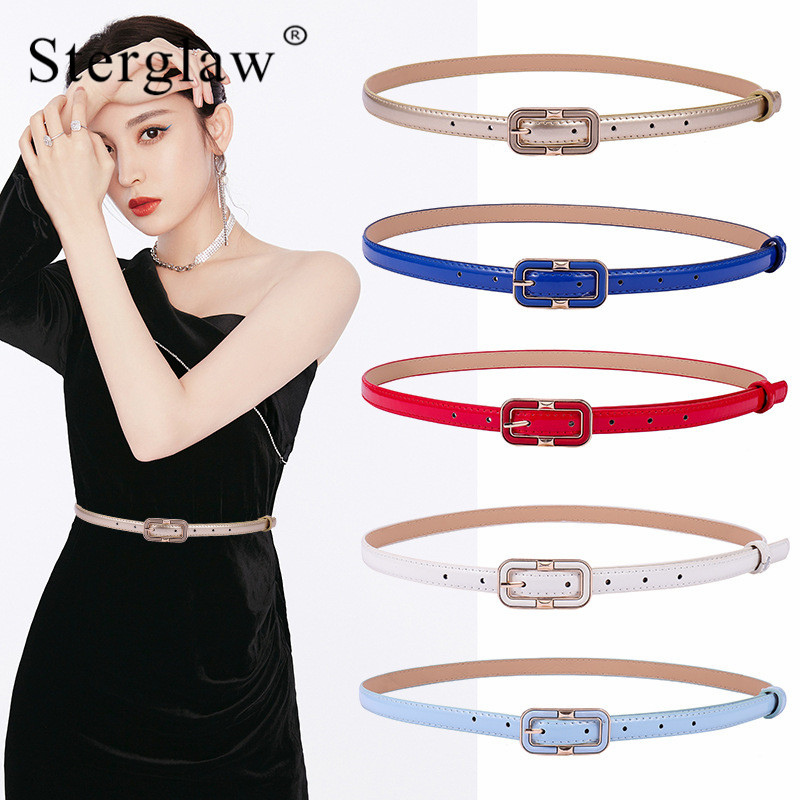 103x1.5cm Women Adult Pu Casual Pin Buckle Female Pinceis Leather Belt Women's 2020 High Quality Narrow For Jeans Belt Lady G013