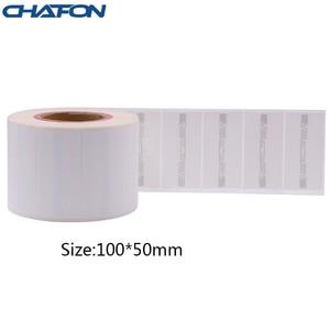 Image 5 - 50 Stuks 73.5*21.2Mm Rfid Gen2 Uhf Papier Tag Met U8 Chip Gebruikt Voor Warehouse Management