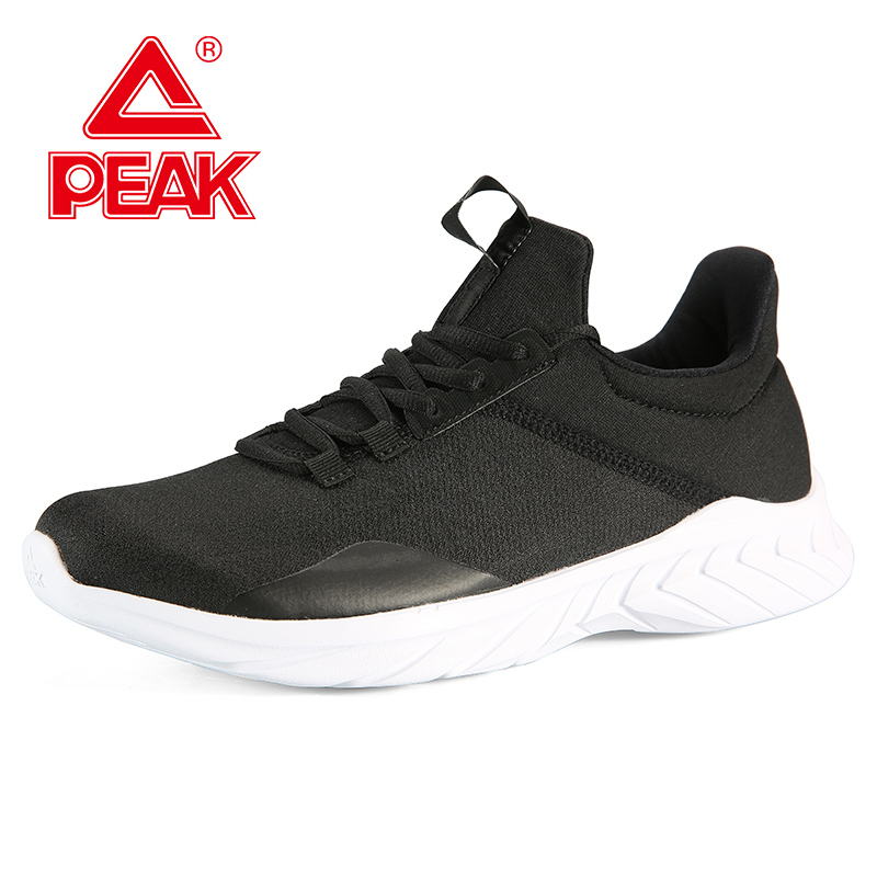 PEAK Men Running Shoes Warm Lightweight Non-slip Casual Shoes Autumn Winter Outdoor Durable Flexible Sneakers Footwear