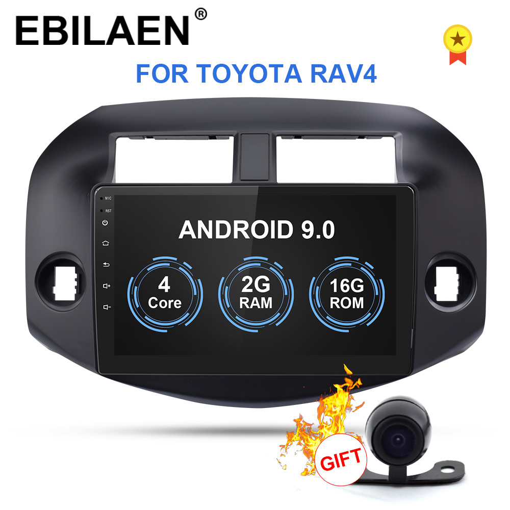EBILAEN Android 9.0 Car Radio Multimedia Player For Toyota RAV4 RAV 4 2007-2010 2Din Autoradio GPS Navigation Tape Recorder image