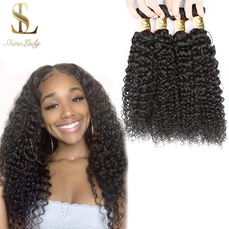 Shinelady 1 3 4 Pcs Jerry Curly Hair Bundles 12 30 Inches Natural Color Remy Human Hair Extensions Brazilian Hair Weave Bundles Hair Weaves Aliexpress