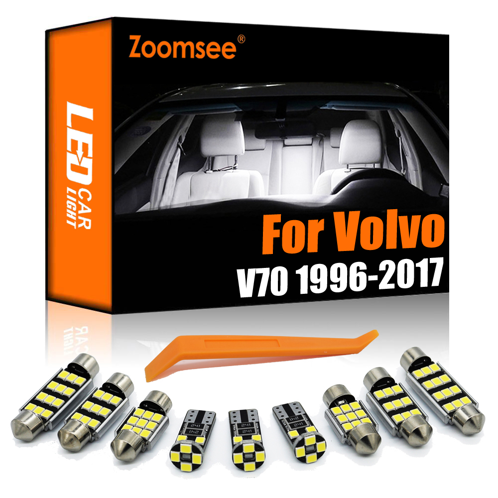 Масштабирусветодиодный ная лампа для Volvo V70 Wagon 1996-2017 Canbus, автомобильная лампа, Внутренняя купольная карта, светильник для чтения багажника, ...