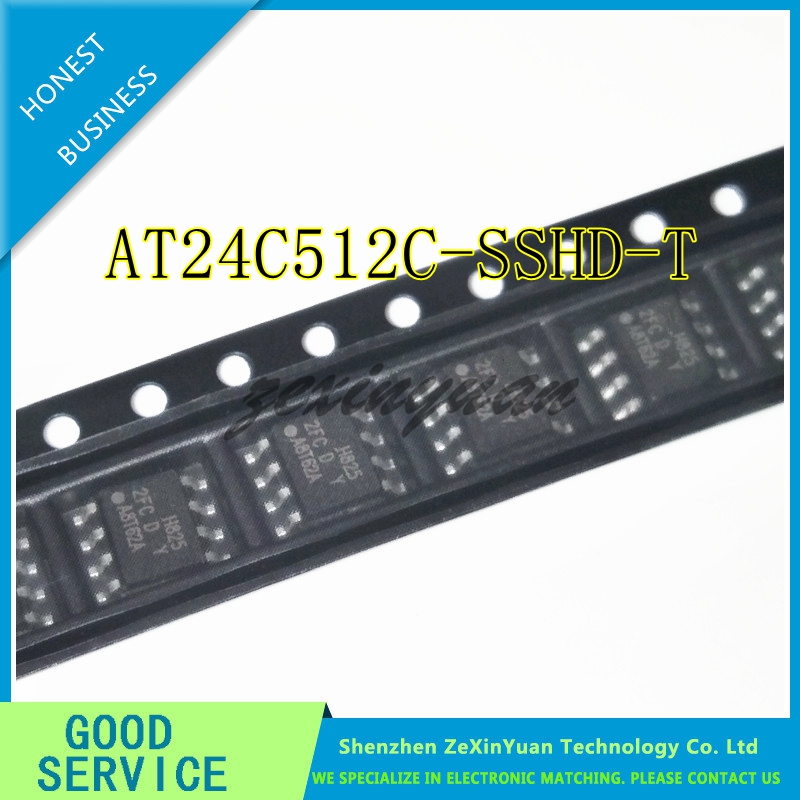 20PCS-100PCS  AT24C512 AT24C512C-SSHD-T 2FCD  2FC SOP8