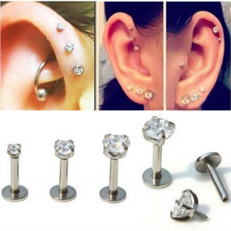 Lip Body Piercing Jewelry Cartilage Helix Tragus Earrings Zircon Ear Studs