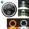 5-3 4inch 5 75 inch Motorcycle Moto LED Projector Full Halo Headlight DRL 50W motorbike headlights for Sportster 883 XL883 FXCW  discount