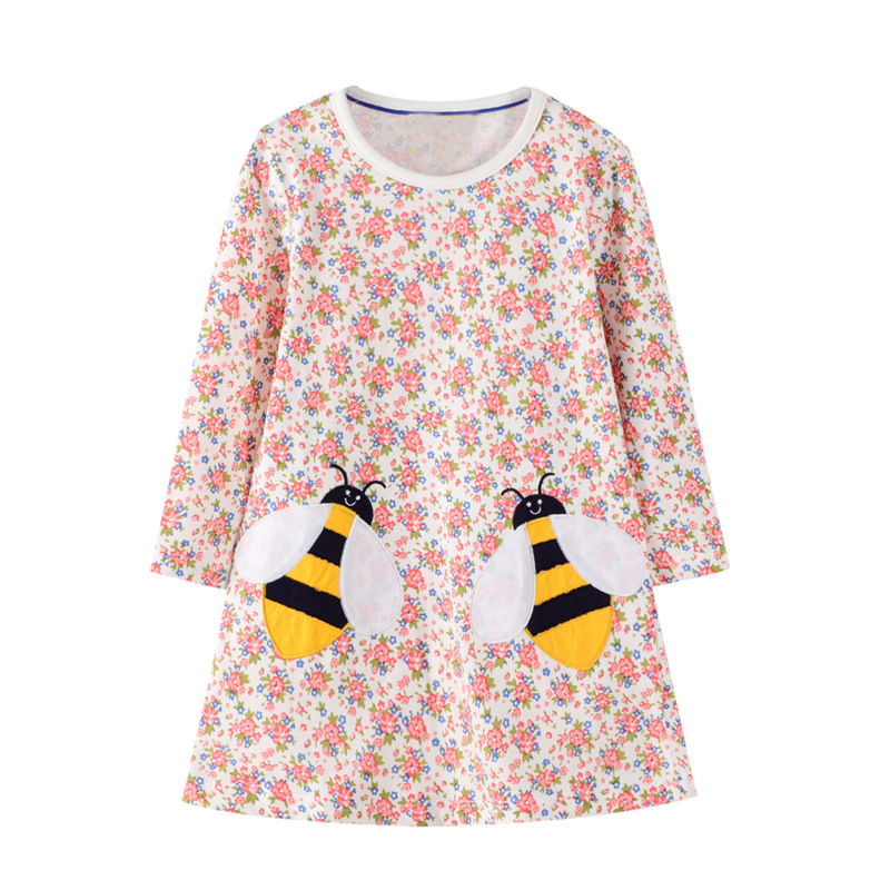 Baby Girls Dresses Clothes Kids Cotton Rabbit Dress Animal Appliqued Children Clothing Toddler Girl Dress Princess Costume 2-7Y 4