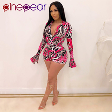 PinePear Sexy Rompers Womens Jumpsuit Playsuit Summer Leopar