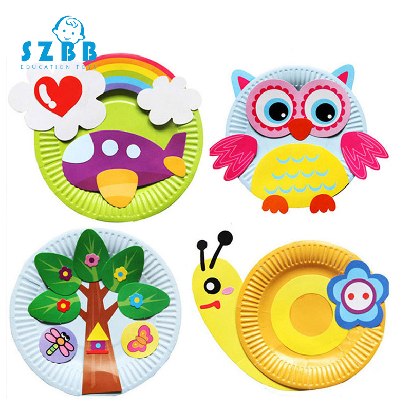Sz Steam DIY Cartoon Handicrafts Toy For Children Handmade Craft Animal Puzzle Paper Tray Painting Backpack Education Toys Gifts