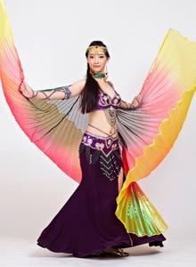 Image 5 - 2018 החדש Gradient צבעים מצרי בטן ריקוד תלבושות ריקוד מקצועי Isis כנפי (לא מקל) 9 צבעים זמין