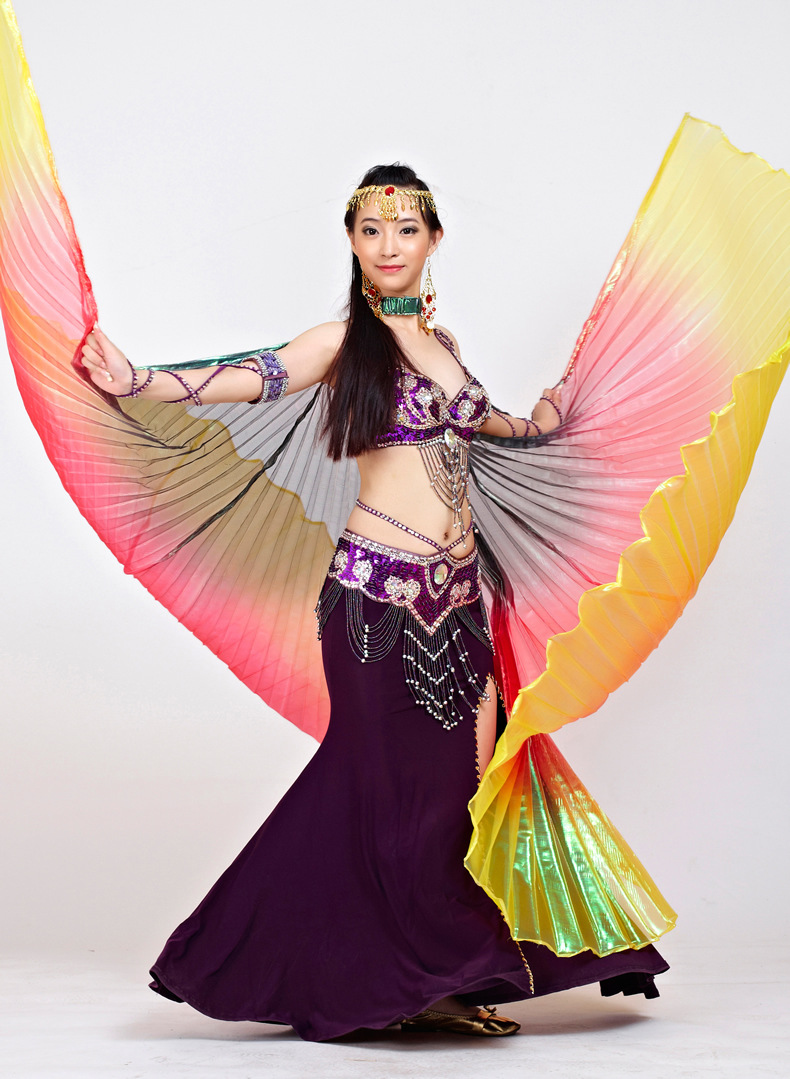 Image 5 - 2018 Newest Gradient Colors Egyptian Belly Dance Costume Professional Dancing Isis Wings (not stick)  9 Colors Availabledance isis wingsisis wingsbelly dance costumes -