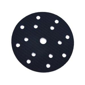 Image 2 - 6 pouces (150mm) 15 trous ponçage et meulage Ultra mince Surface Protection Interface Pad pour accessoires de ponceuse bricolage outils crochets