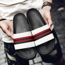 Projektant marki klapki damskie skórzane obuwie letnie moda kobiece zjeżdżalnie wodne Outdoor płaskie sandały damskie plażowy but tanie tanio UYOYU Niska (1 cm-3 cm) podstawowe CN (pochodzenie) Lato Na zewnątrz Płaskie z RUBBER kapcie LEISURE Dobrze pasuje do rozmiaru wybierz swój normalny rozmiar
