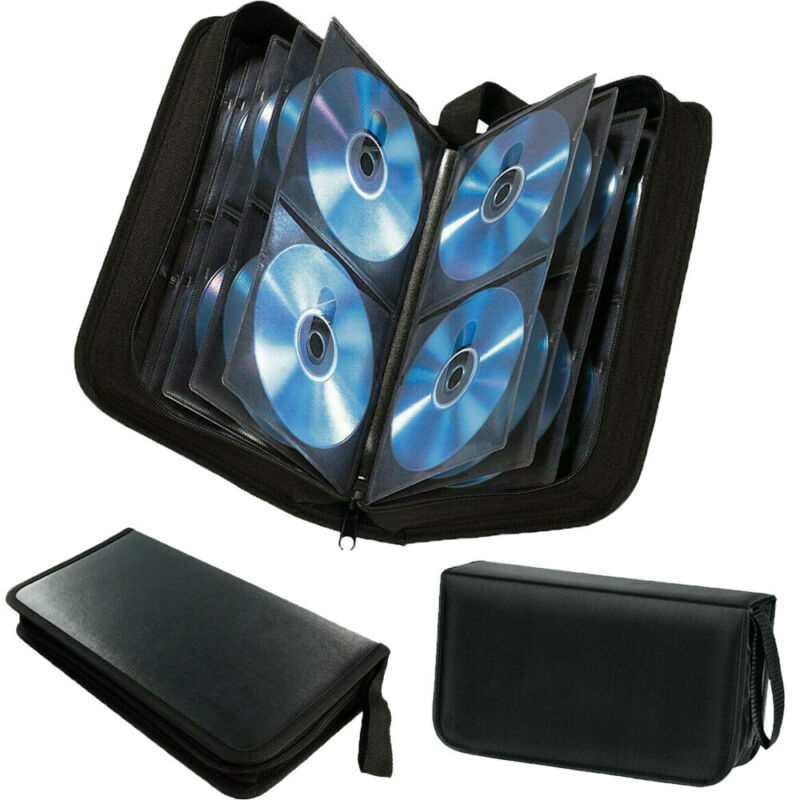CD DVD Blu Ray Disc Carry Cases Holder Bag Wallet Storage Ring Binder 80 Sleeve