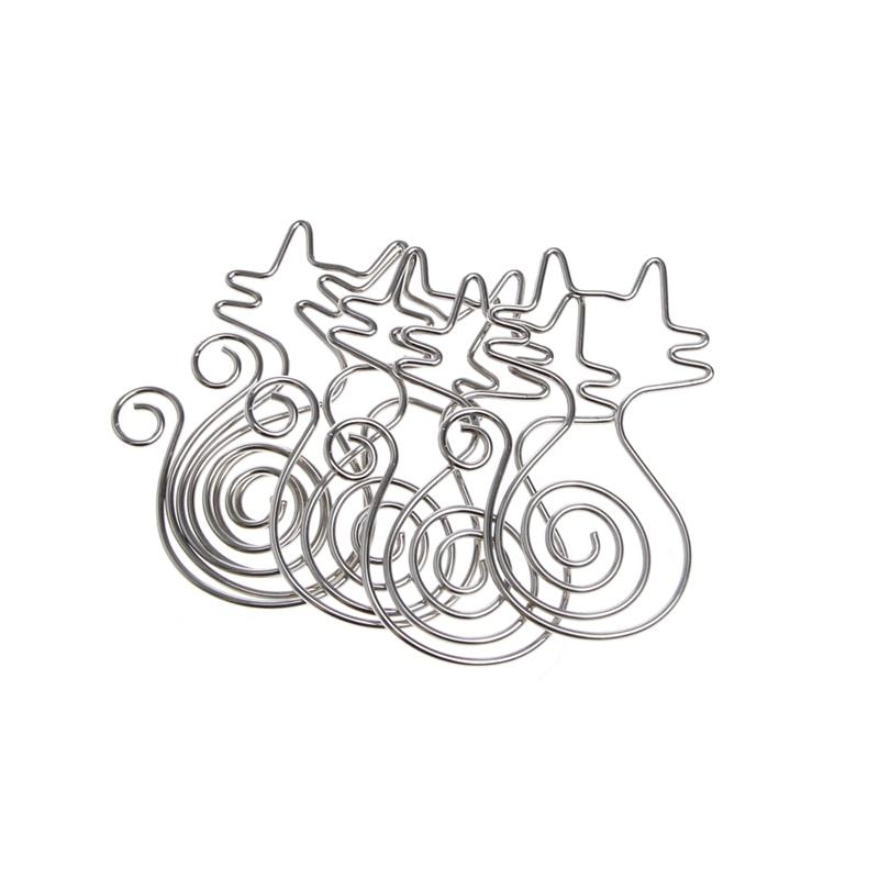 Cute Cat Metal Paper Clips Pin Book Bookmark Memo Clip Office School Stationery