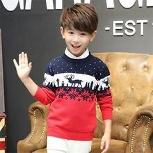 Рождественские свитера для мальчиков 2020 зимняя одежда с принтом