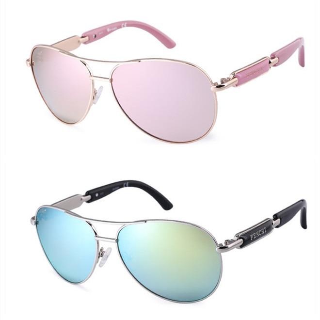 FENCHI Polarized Sunglasses Women Vintage Brand Glasses Driving Pilot Pink Mirror sunglasses Men ladies oculos de sol feminino 14