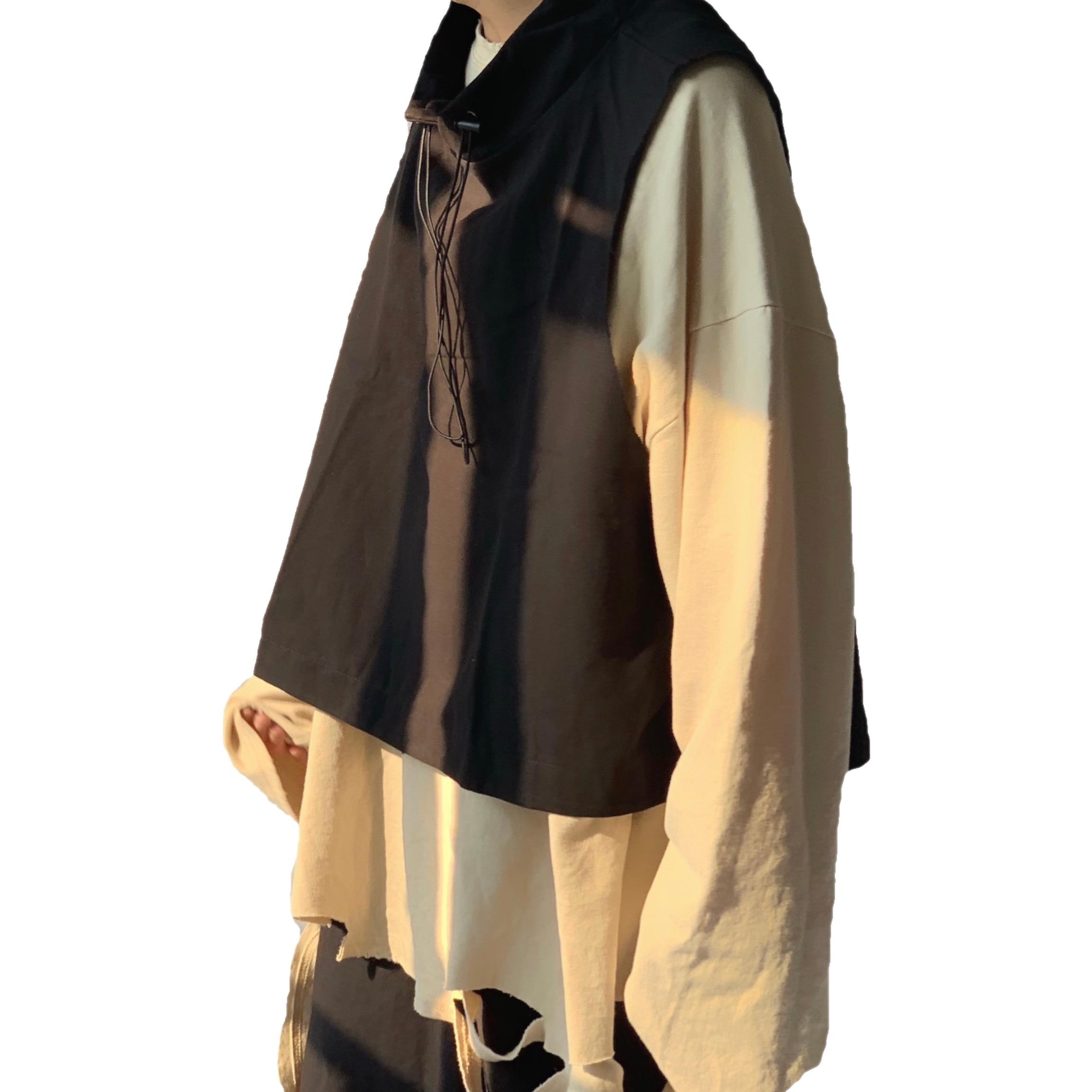 Hip Hop Sleeveless Vests Men Women Functional Tactical Drawstring Vest 2020 New Streetwear Black Pullover Loose Vest Sweatshirts