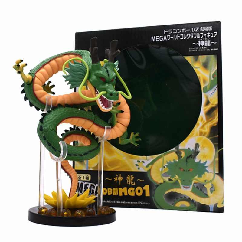 16cm dragon ball z figuras de ação verde shenron dragonball z figuras definir figuras de prateleira estatuetas modelo brinquedo coleção
