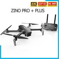 Hubsan Zino PRO + Plus GPS Drone 4K 30FPS UHD Camera con 3 assi Gimbal 5G WiFi 8KM FPV 43 minuti Dron professionale RC Quadcopter