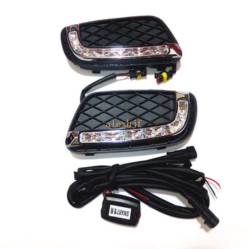 July King LED Daytime Running Lights case for Smart fortwo 2008-2011, LED Front Bumper DRL, 1:1 replacement, Fast Shipping