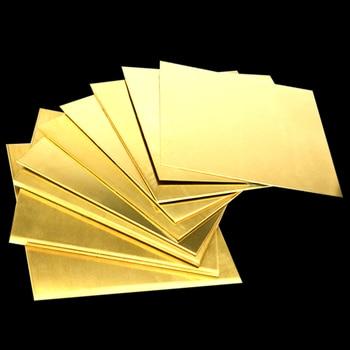 H62 Brass Copper Plate Sheet of CuZn40 2.036 CW509N C28000 C3712 H62 Cu Laser Cutting CNC Frame Model Mould DIY Contruction 5 100 100mm beryllium bronze sheet plate of c17200 cube2 cb101 toct bpb2 mould material laser cutting nc free shipping