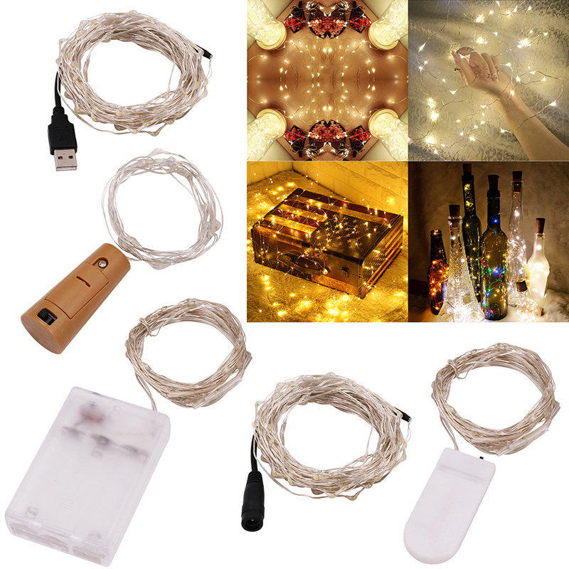 LED Strip Light Fairy Lights String Luces Led Decoracion 50M 30M 20M 10M 5M 3M 2M Light For Garland Home Christmas Wedding Party