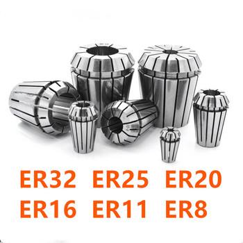 ER32 ER25 ER20 ER16 ER11 ER8 ER zacisk sprężynowy możesz o nich nadmienić 0 008mm dla CNC narzędzie do frezowania uchwyt na silnik wrzeciona maszyny grawerującej tanie i dobre opinie KOESOTR CNC clamp ER8 ER11 ER16 ER20 ER25 ER32 High precision chuck High precision grinding