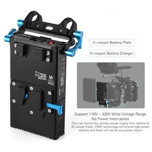 Image 4 - Fotga DP500III 2で1 vマウントバッテリープレートアダプタ充電器15ミリメートルキヤノンニコンソニー用カメラビデオスタジオ撮影