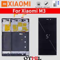 TDS-CDMA WCDMA oryginalny 5.0 ''LCD dla XIAO mi mi 3 wyświetlacz LCD rama ekranu dotykowego dla Xiao mi mi 3 LCD M3 wymiana wyświetlacza LCD