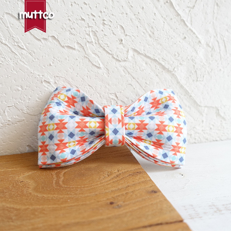 Muttco Creative Handmade Dog Bow Pet Play Mei Shi Pin Neck Ring Bowtie Ubt-056