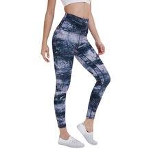 Спортивные Леггинсы для йоги штаны Высокая талия эластичные