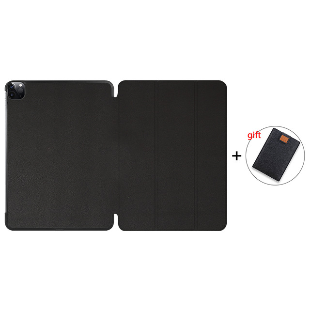 Black Gold MTT Case For iPad Pro 11 inch 2020 PU Leather Magnetic Fold Flip Smart Cover Protective