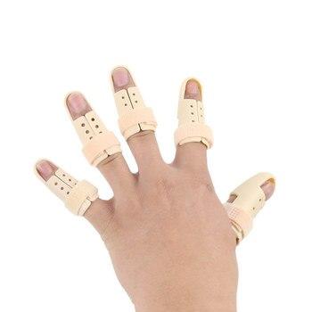 5Pcs/Lot Finger Splint Support Joint Arthritis Corrector Pedicure Finger Brace Protector Straightener Splint Posture Correction adjustable finger joint splint orthodontics fixer finger joint physical exercise protection fracture support brace 75x30x27cm