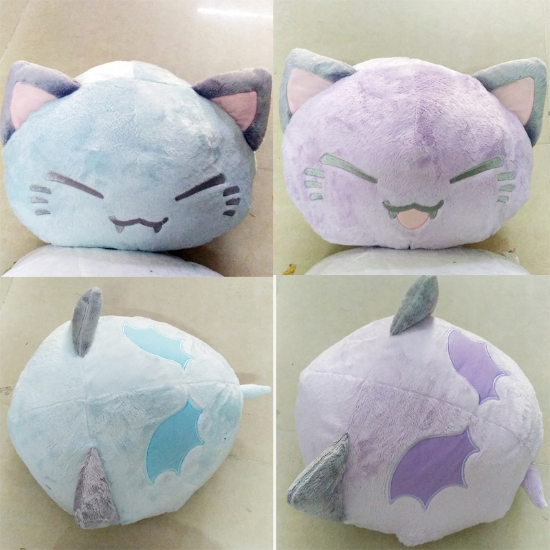 Cartoon Nemuneko Sleeping Cat Soft Plush Doll Toys Cute Genuine Devil Angel Series Neko Styles Cat Pillow Gift Toy 38CM