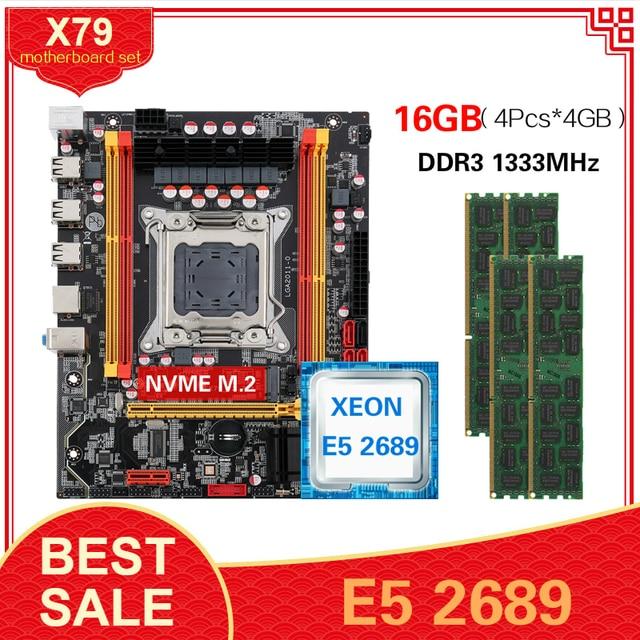 Kllisre X79 マザーボードLGA2011 コンボxeon E5 2689 cpu 4 個のx 4 ギガバイト = 16 ギガバイトメモリDDR3 ecc ram 1333mhz