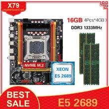 Kllisre X79 motherboard with LGA2011 combos Xeon E5 2689 CPU 4pcs x 4GB = 16GB memory DDR3 ECC RAM 1333Mhz
