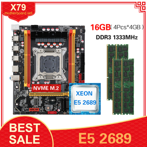 Image 1 - Płyta główna Kllisre X79 z LGA2011 combo Xeon E5 2689 CPU 4szt x 4GB = 16GB pamięci DDR3 ECC RAM 1333Mhz
