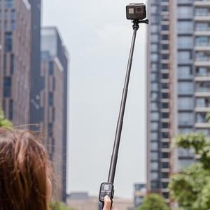 Image 5 - TELESIN karbon Fiber selfie sopa ile tripod VS alüminyum alaşım selfie sopa gitmek için Pro kahraman 8 7 6 5 2018 Osmo eylem kamera