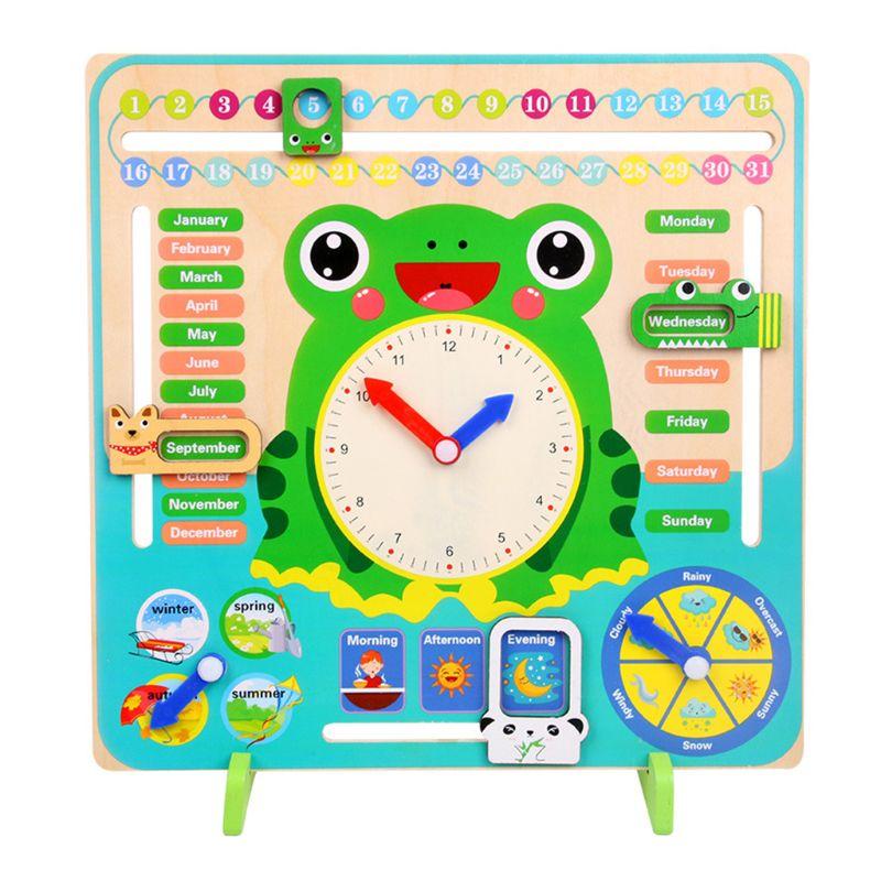 multifuncional calendario relogio de aprendizagem educacional precoce brinquedos para meninos meninas miudo brinquedo quente