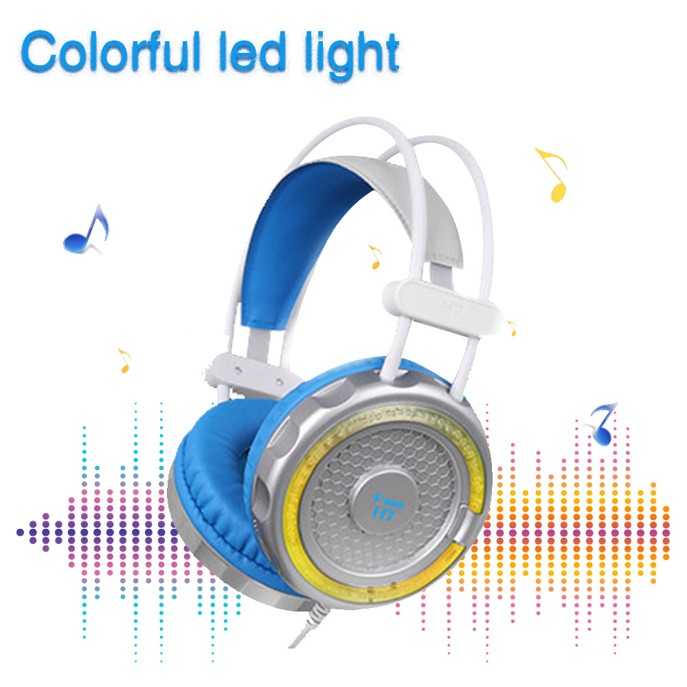 GTIPPOR 7.1 Surround Sound Gaming Headphones casque Stereo USB Game Headset with Microphone Breathing Colorful LED Lights