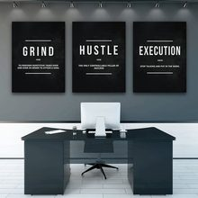 Entrepreneur Quotes Inspirational Canvas Painting Triptych Black White English Phrases Posters Office Study Wall Art Pictures