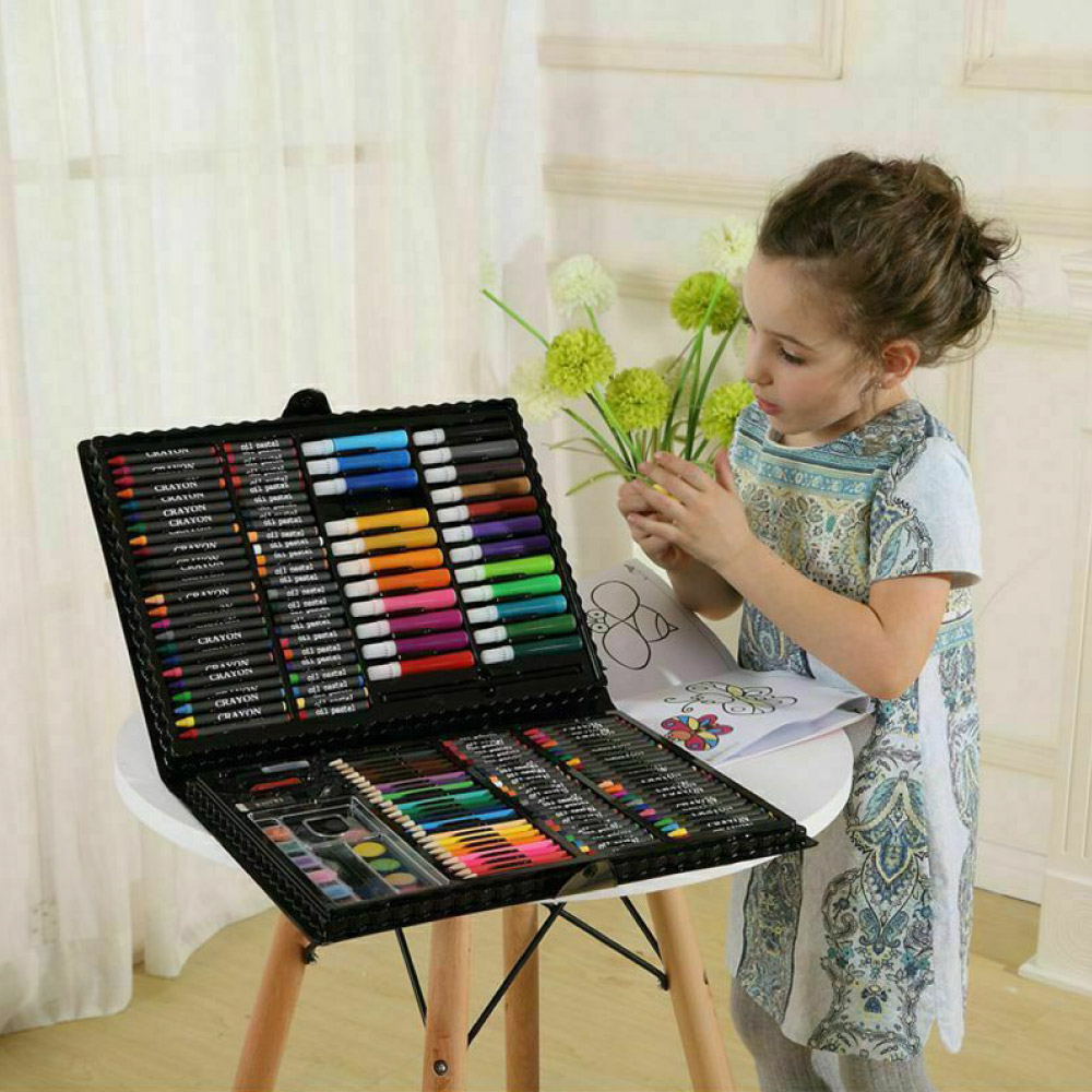 Image 2 - 168 pcs Kids Art Set Children Drawing Set Water Color Pen Crayon Oil Pastel Painting Drawing Tool Art Supplies Stationery setArt Sets   -