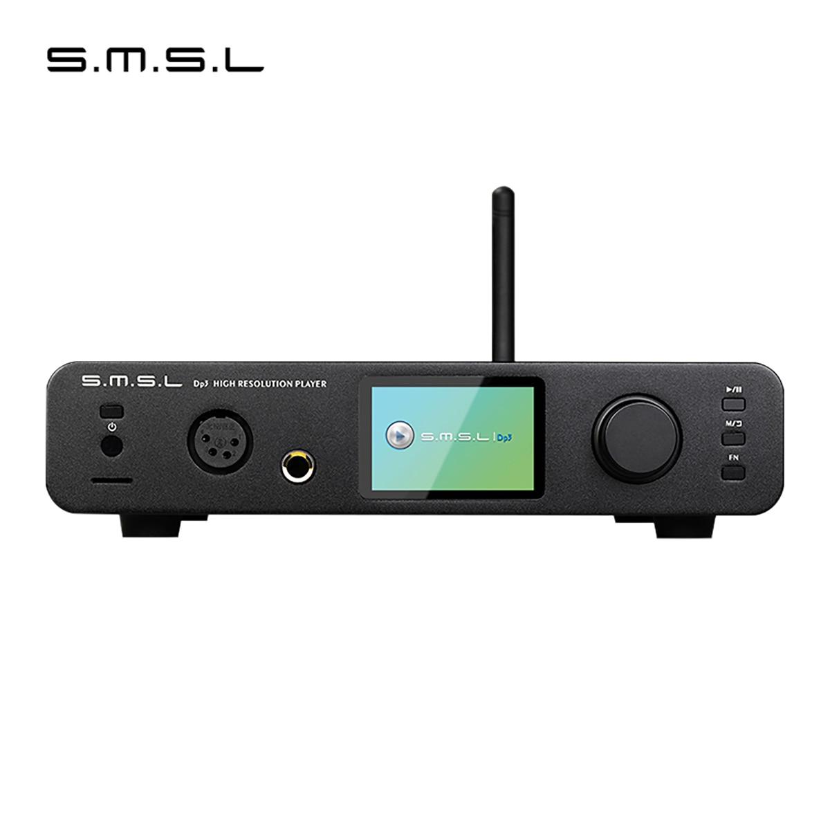 SMSL DP3 USB DAC Bluetooth Headphone Audio Decoder ES9018Q2C Hifi Bluetooth Dac Audio Amplifier Balanced DSD Digital Player Amp