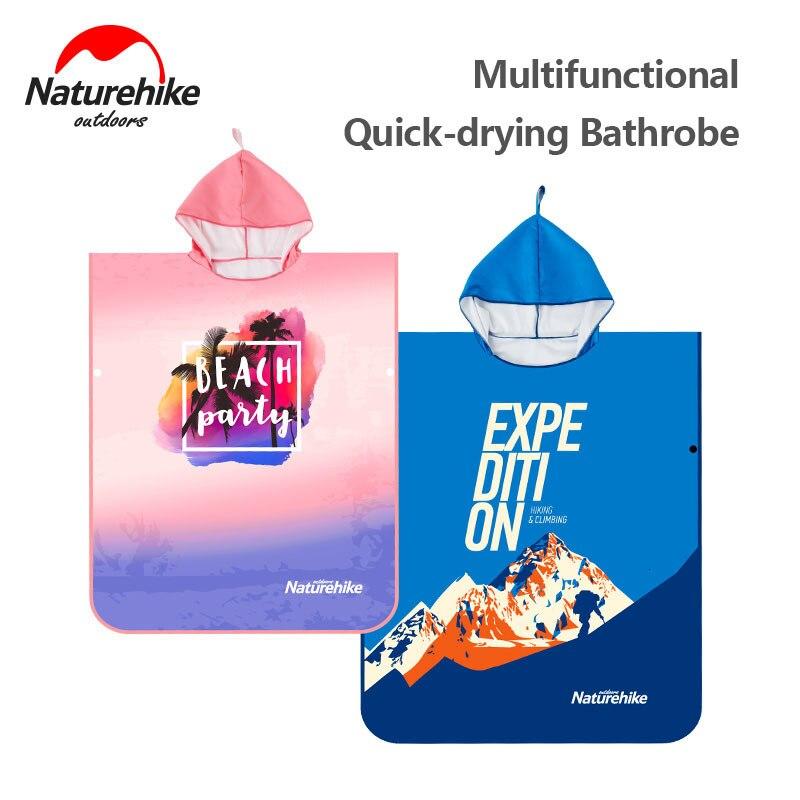 Naturehike 2019 Swimming Towel Bathrobe Unisex Sunscreen Quick-drying Moisture Beach Towel Ultralight Travel Cloak Surf Poncho