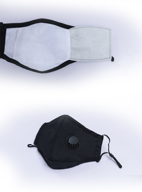 1 PCS Mouth Mask Reusable Mask Washable with 10 PCS PM2.5 activated carbon filter Respirator 3