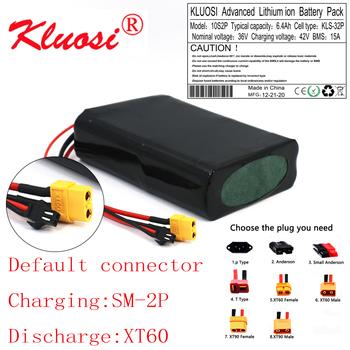 KLUOSI 10S2P 36V 6 4Ah 6Ah 450W18650 akumulator litowy z 15A BMS do skutera elektrycznego deskorolka Ebike rower elektryczny tanie i dobre opinie NONE CN (pochodzenie) 1000g 140*95*40mm KLS36640ABSMXT60 Scooter Li-ion 28V-42V