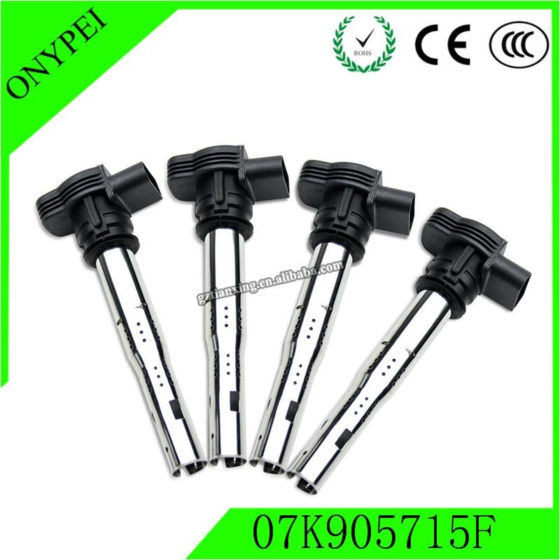 4pcs High Type Hot Coils 07K905715D 07K905715F Ignition Coil For Golf Jetta Passat Beetle A4 A6 Seat Skoda 07k 905 715 f