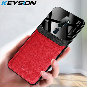 KEYSION Leather Case for OPPO A9 A5 2020 A11X Reno 4 3 Pro Ace Reno2 Z A91 A52 A92S Shockproof Back Cover for Realme X2 5 Pro XT(China)