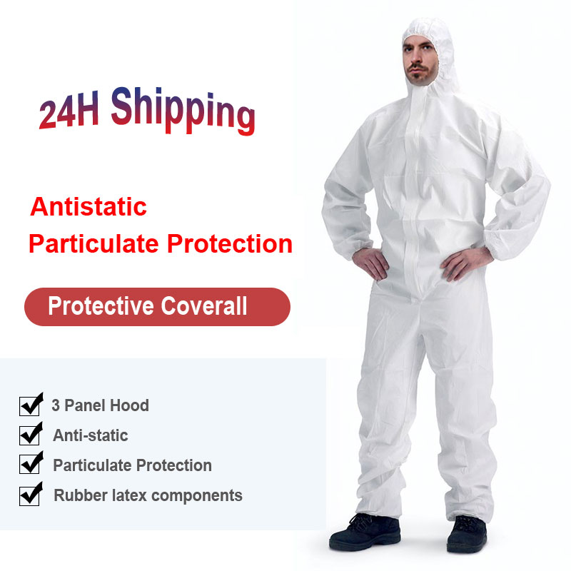 Safety Protective Clothing Protective Coveralls Unisex Disposable Factory Workwear Isolation Protective Hazmat Suit
