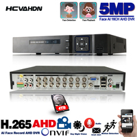 16 Channel AHD DVR 5MP 16CH AHD/CVI/TVI DVR 2592*1944 5MP CCTV Video Recorder Hybrid DVR NVR HVR 6 In 1 Alarm Security System